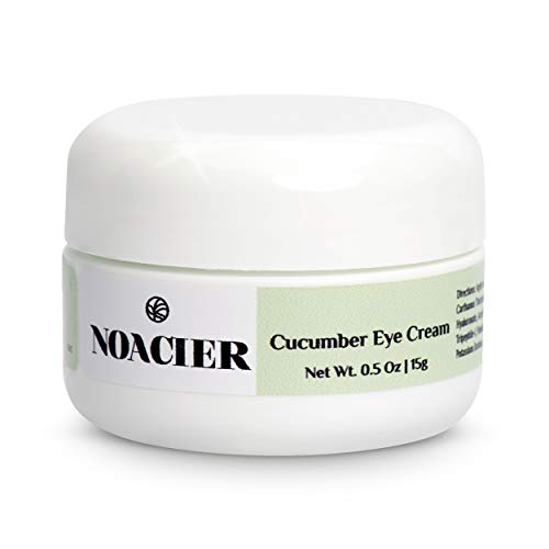 Noacier Cucumber Eye Cream for Dark Circles and Puffiness with Hyaluronic Acid and Vitamins - Anti Anging, Firming, Wrinkle Treatment