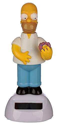 Namenlos Wackelfigur Homer Simpson mit Solar | Lustige Deko-Figur Wackelkopf-Figur für Auto LKW H 11,5 cm