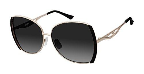 Rocawear Damen R703 Gldbk Sonnenbrille, Goldfarben/Schwarz