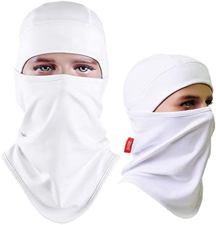 Aegend Balaclava Face Warmer Windproof Fleece for Winter Skiing Cold Weather for Men Women White product image