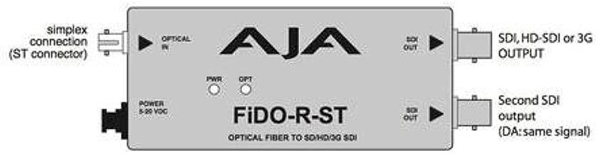 AJA FiDO-R-ST Single Channel Optical Fiber ST to SDI Converter with Dual SDI Outputs