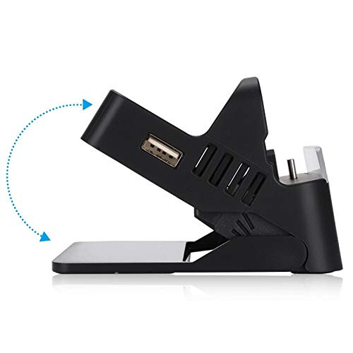 FOLOSAFENAR Type-C Base de Carga portátil 5V-15V Base Bluetooth HUB USB Salidas Ajuste de ángulo HDMI Mini para Switch Host