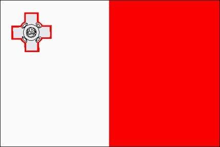 Nueva bandera de Malta con 2 grandes 152,4 cm x cm 91,44 ojales de metal