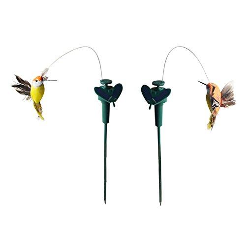 PETSOLA 2 st. dansande fågel kolibri solstift blickfångaren på din terrass/blomsterbädd/trädgård/balkong/blomhuvud