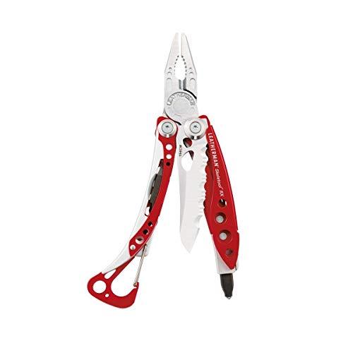 LEATHERMAN - Skeletool RX, das leichte und kompakte Multifunktionswerkzeug für Rettungskräfte, mit Glasbrecher, Rot