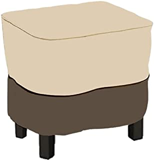 skyfiree Patio Square Side Table Cover Waterproof Outdoor Ottoman Cover with Padded Handles 26x26x17inch End Table Cover F...