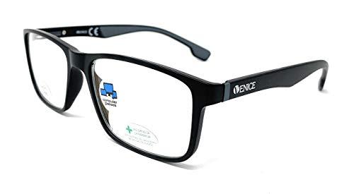 New Model Gafas de lectura con filtro bloqueo luz azul para gaming, ordenador, móvil. Anti fatiga RACE unisex venice (Gris, +1.50)