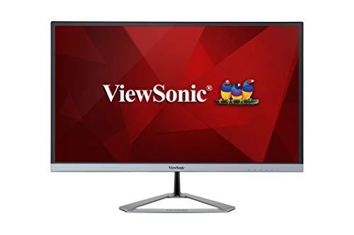 Viewsonic VX2776-4K-MHD 68,6 cm (27 Zoll) Design Monitor (4K UHD, IPS-Panel, HDR, HDMI, DP, Eye-Care, Eco-Mode, Lautsprecher, 3 Jahre Austauschservice) Silber-Schwarz