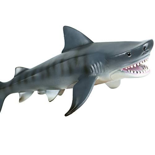 FLORMOON Megalodon - Figuras de animales - Figura de tiburón realista pintada a mano - Animales de juguete de baño, tapa de tarta, proyecto de cumpleaños, Navidad, regalo para niños (heterodontus)