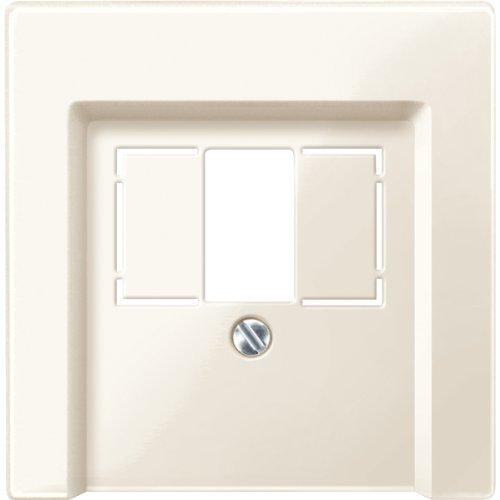 Merten 296044 centrale plaat voor TAE/Audio/USB, wit glanzend, systeem M