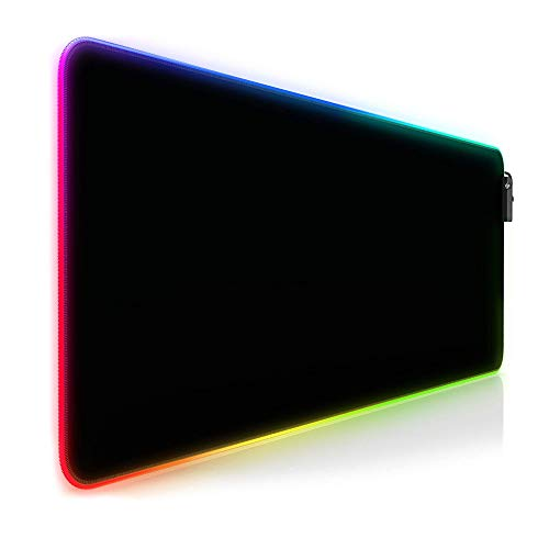 MOPOIN i RGB Gaming Mauspad, Größere Gaming Mousepad LED mit 14 Beleuchtungs Modi, 800 * 300mm USB Gaming Mat, Anti Rutsch Mouse Matte für Computer PC Professionelle Gamer