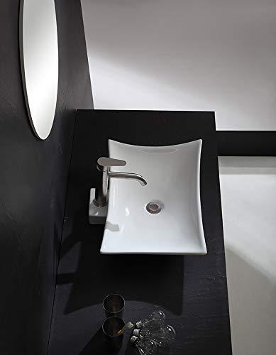 Art-of-Baan® Design Aufsatzwaschbecken Waschbecken Waschschale Waschtisch 580 * 420 * 115 mm mit Lotus Effekt (Europa)