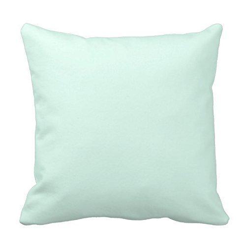 Dutch Custom - Funda de almohada decorativa de algodón para cojín de 45 cm, color verde menta