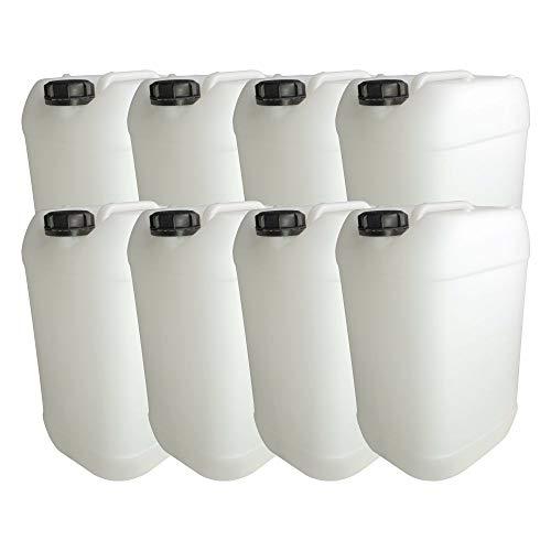 Trevendo® 8 Stück Leerkanister 25 Liter DIN 61, lebensmittelecht