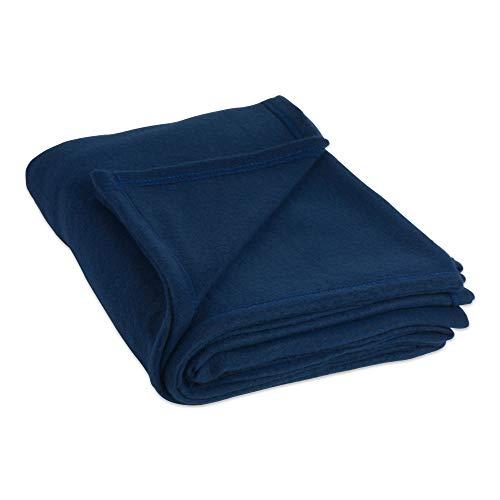 DII Luxury Fleece Blanket, Twin/Twin X-Large, Dark Blue