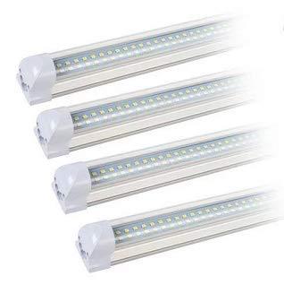 T8 Led Tube Super Bright V-Shape Led Tube Light with Upgraded Shop Lights Plug and Play (4ft) 4 Pack (T8-2-1)