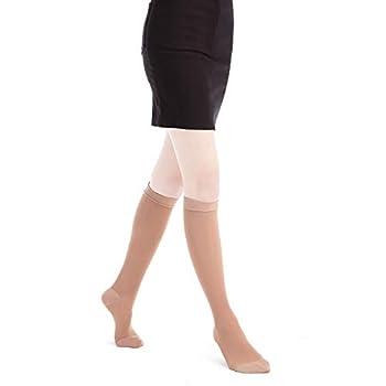VRAIE COMPRESSION GRADUEE (15-20mmHG) - Répartition précise de la pression le long de la jambe avec une plus grande pression autour de la cheville et qui diminue le long du mollet; Cet effet gradué améliore la circulation sanguine pour aider à soulag...