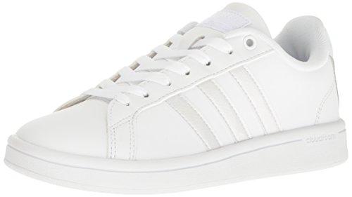 adidas NEO Womens Cloudfoam Advantage W Fashion Sneaker, White ...