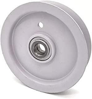 Phoenix Mfg. 4 Inch Flat Dia Flat Idler Pulley Replacement for Briggs and Stratton Simplicity 76688 Husqvarna Craftsman 539976688 976688