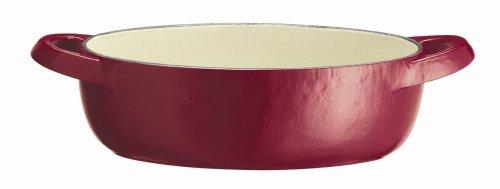 Tefal Jamie Oliver - Bandeja de Hierro Fundido para gratina, 20 cm x 14 cm, Color Frambuesa