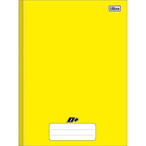 Tilibra Universitário D+ - Caderno Brochura Capa Dura, 200x275mm, 96 Folhas, Amarelo