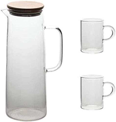 Kettle Tetera Jugs Cool Kettle Diseño de gran capacidad de gran capacidad Frío Botella de agua para el hogar Suministros de vajilla de vidrio Jugo de vidrio Pote Regalo 1700ml, 1200ml Taza de té