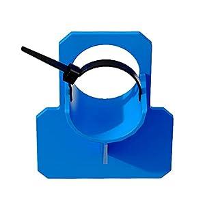 Ranana Soportes para Manguera Piscina,Resistentes a Perforaciones, con 2 Bridas para Cables y 1 Pegamento, Compatibles con Mangueras Entre 30-37 mm (Azul)