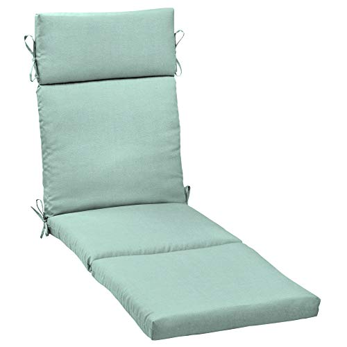 MISC Aqua Texture Outdoor Cartridge Chaise Cushion Blue Solid Polyester Uv Resistant