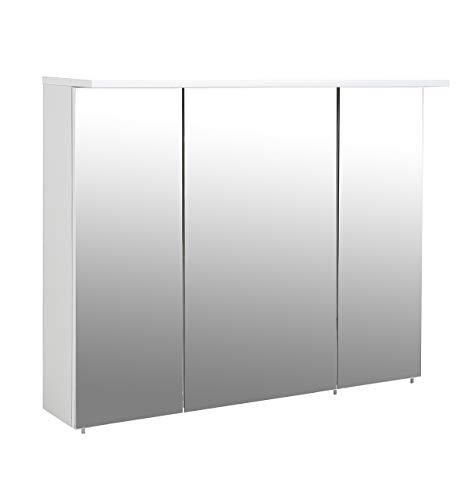 Schildmeyer Spiegelschrank, Melaminharzbeschichtete Spanplatte, weiß, 100.5 x 16 x 72.5 cm