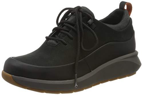 Clarks Un Venturelo, Zapatos de Cordones Derby para Mujer, Negro Black Comb Black Comb, 40 EU