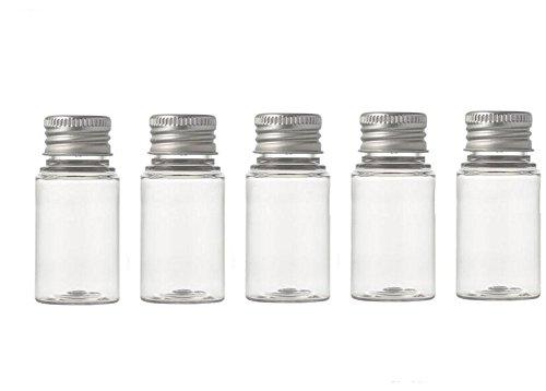 6 PCS 10 ml En Plastique Petits Contenants Avec Couvercle Argent En Aluminium Voyage Cosmétiques Huiles Essentielles Crèmes En Poudre Pommades Pilule Médecine Conteneur De Stockage