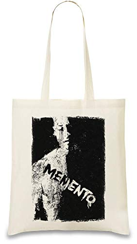 Memento Filmplakat - memento movie poster Custom Printed Tote Bag| 100% Soft Cotton| Natural Color & Eco-Friendly| Unique, Re-Usable & Stylish Handbag For Every Day Use| Custom Shoulder Bags By Design