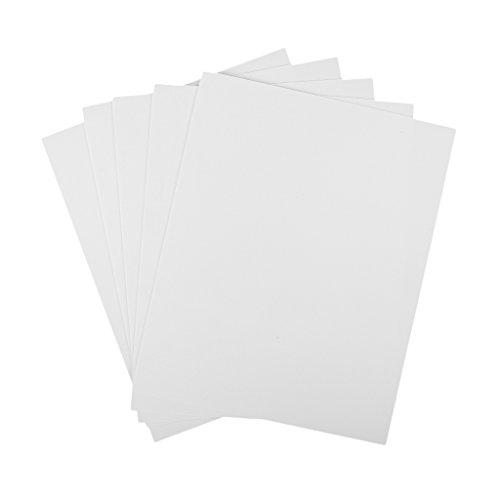 HomeDecTime 5 STK. DIY Kunstoff Platte Material Styrol Fläche Platte Für Modellbau - Weiß, 200x250x1