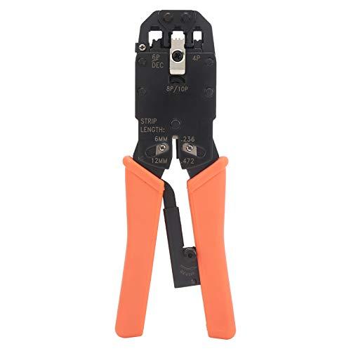 Herramienta de crimpado de alambre, herramienta de crimpado de agarre cómodo que ahorra mano de obra para conectores de telecomunicaciones