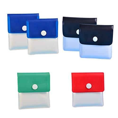 Mingtongli 6pcs Cenicero de bolsillo portátil de la bolsa reutilizable de PVC Ash Bolsa monedero para el coche/Inicio 7.8x8cm