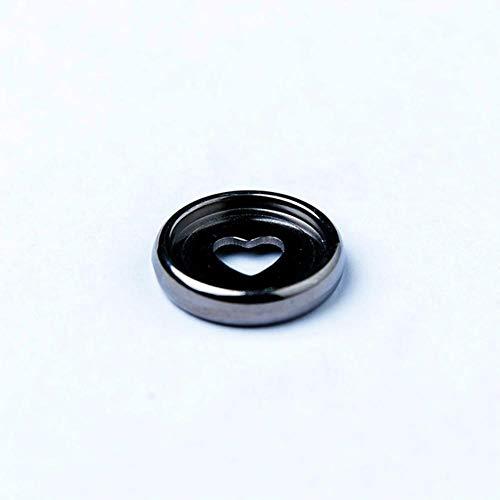 Heng Kleurrijke Disc Binding RingLosbladige Paddestoel Gat Arc Binding Boek Ringen voor Notebook Binder Office Supply, 24 stks Helder zwart