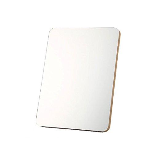 Decorative mirror-QFF Miroir en bois, Chambre Make Up Portable Rétro Creative Miroir Double-face Dresser Miroir Cosmétique Miroir Salon Miroir Miroir (Size : 19.7 * 26CM)