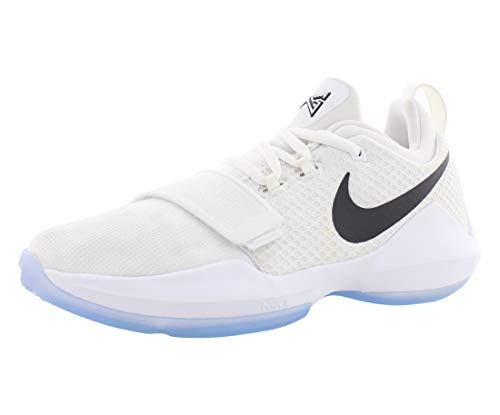 Nike Pg1 Basketball Boy's Shoes Size 4 White/Black