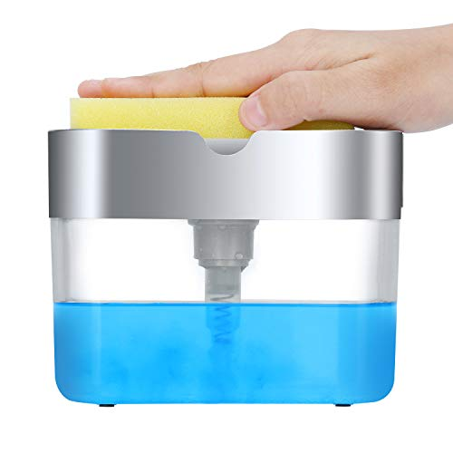LIFEEZY Original Soap Dispenser for Kitchen & Sponge Holder...