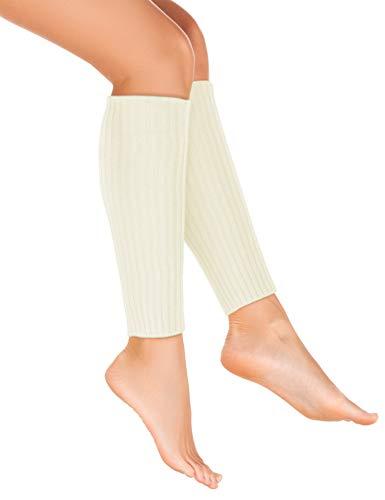 Balinco Strick-Stulpen   Beinstulpen   Damen & Mädchen Stuplen   Beinwärmer für den Alltag oder als Accessoire zum Karneval / Fasching (Weiß)
