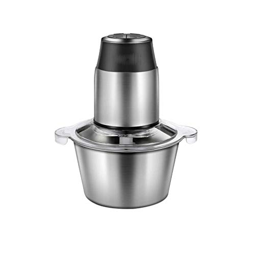 XLEVE Electric Food Chopper, Mini Food Processor with Titanium Coating Blades and Stainless Steel Bowl, Speed Kitchen Meat Grinder Mincer for Fruit Cheese Nuts