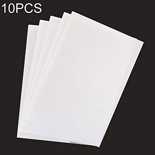 FScl Een 10 PCS Print Heat Shrink Film DIY Epoxy printpapier rubber stempel materiaal Print Papier (transparant) (Color : White)