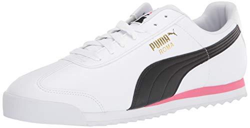 PUMA Unisex Roma Sneaker, White-Bubblegum, 7 US Men