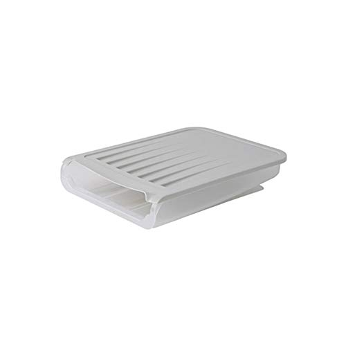 DSFHKUYB Caja de Almacenamiento de Huevos Soporte de Almacenamiento de Huevos con Desplazamiento automático Bandeja de Huevos Multifuncional con Tapa para refrigerador Caja de,Gris