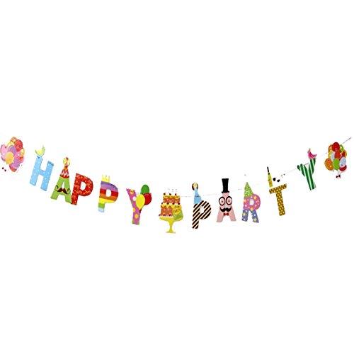 Demarkt Happy Birthday Garland Flag Banner Birthday Decorations Medium Like pictures A