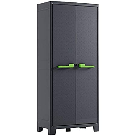 KETER | Armoire haute MOBY, Anthracite, Cabinets, 80x44x44x182 cm
