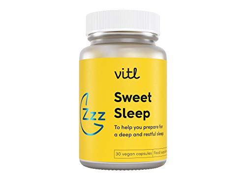 VITL Sweet Sleep | Deep Restful Blend of Vitamins Minerals, Calming Plant Extracts and Soothing Amino Acid Supplement to Tune Into Your Inner Tranquility