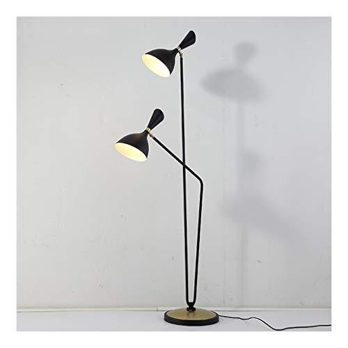 Floor Lamp Staande lamp 2 koppen LED-lamp 's nachts slaapkamer woonkamer leeskamer verticale studie tafellamp moderne piano vloerlamp