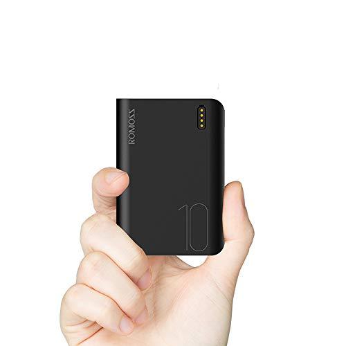 Romoss Powerbank 10000mAh, Draagbare lader Compatibel voor iPhone 6/7/8, iPad, Samsung, GoPro en Meer (Zwart)