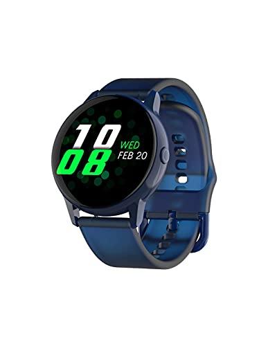 Roneberg RT88 - Reloj inteligente para mujer con funciones de vigilancia, actividad física, reloj para mujer, elegante aspecto minimalista, correa de silicona (azul)